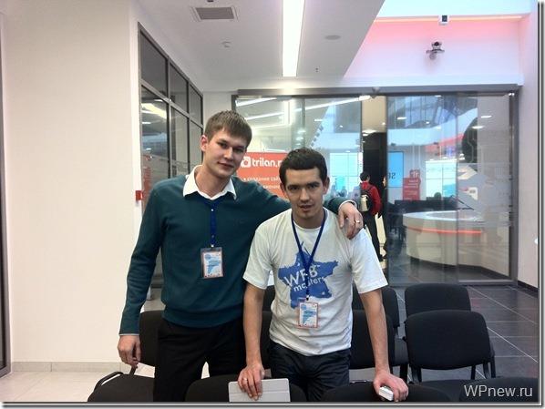 Я и Алексей Терехов на SEO Conference 2011