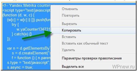 Установка Яндекс Метрика