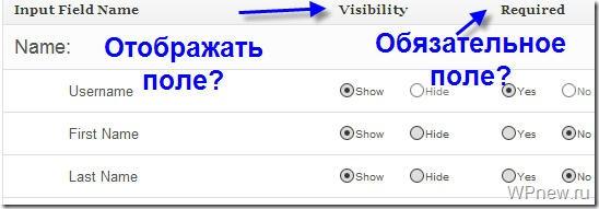 Регистрация на сайте WordPress