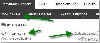 Проверить позиции сайта