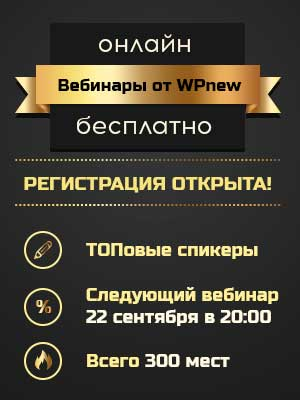 Вебинары марафона WPnew.ru