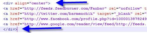 Выравнивание кнопки на сайте