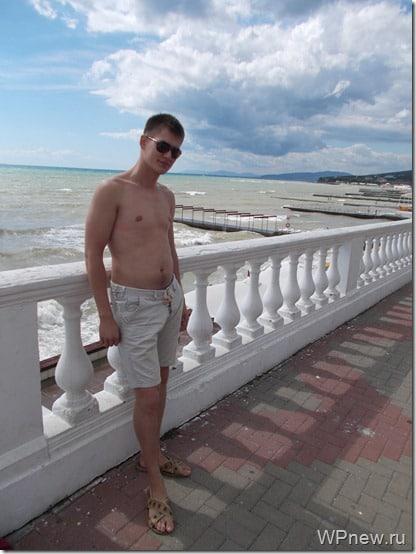 Петр Александров на море