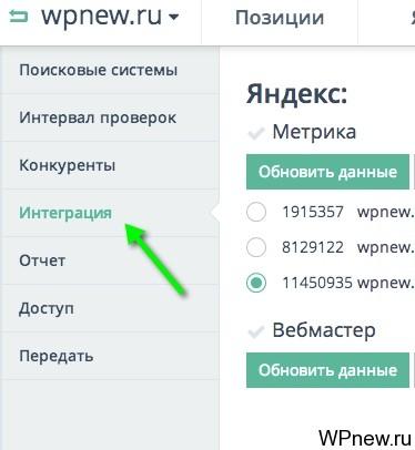 Интеграция с Яндекс Метрикой