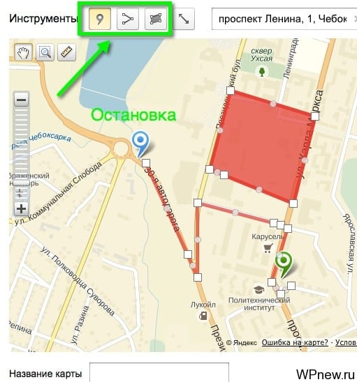 Карта проезда на Яндекс Карты