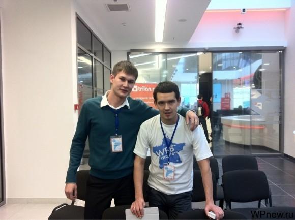 Я и Алексей Терехов