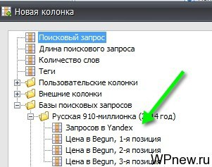 Частотность в Яндексе