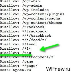 Индексация меток WordPress
