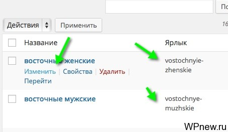 Теги WordPress