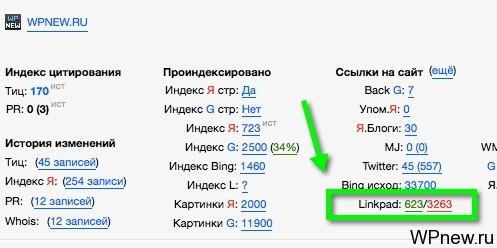 Проверка ссылочной массы сайта