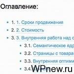 Содержание статьи в WordPress