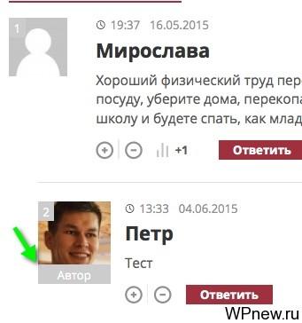 Автор комментария