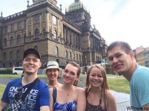 Мокрые в Праге :)