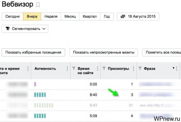 Анализ вебвизора
