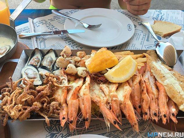 Обед в Ocean Basket